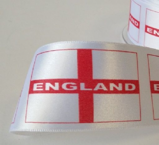 12169 35mm St Georges Cross Flag Ribbon - 20m.